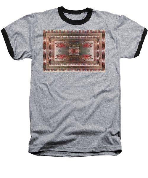 Cardinal Flower Design Baseball T-Shirt