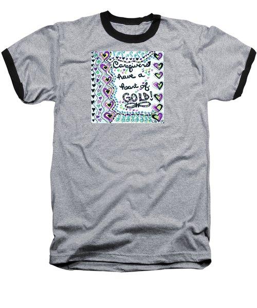 Caregiver Joy Baseball T-Shirt by Carole Brecht