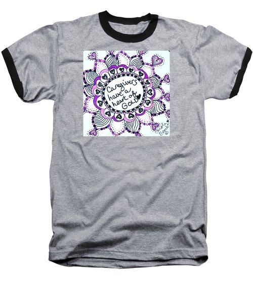 Caregiver Sun Baseball T-Shirt by Carole Brecht