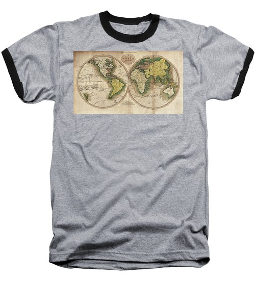 Baseball T-Shirt featuring the photograph Carey's Map Of The World  1795 by Daniel Hagerman
