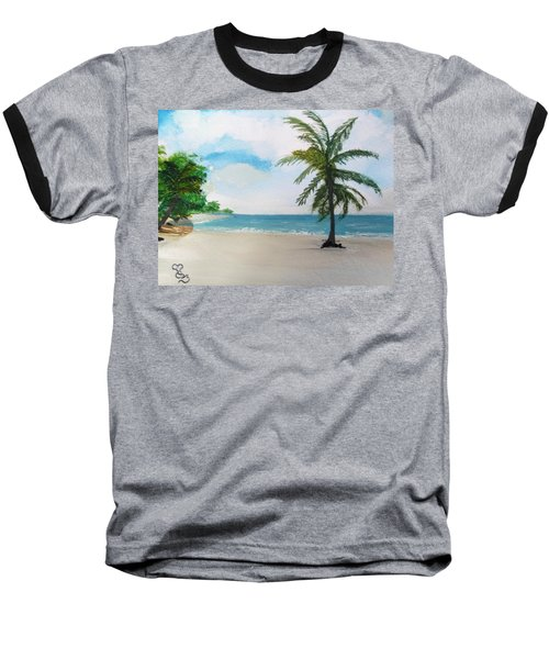 Caribbean Beach Baseball T-Shirt