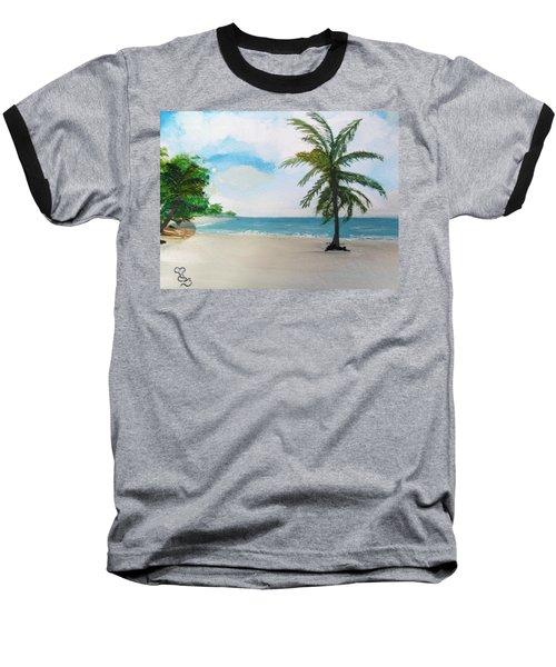 Caribbean Beach Baseball T-Shirt