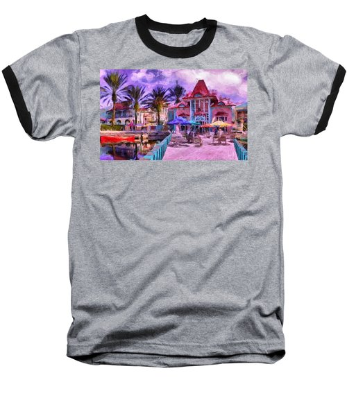 Caribbean Beach Resort Baseball T-Shirt