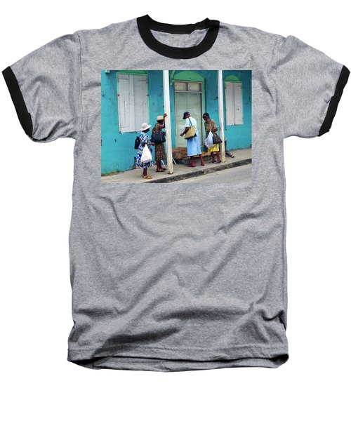 Baseball T-Shirt featuring the photograph Caribbean Blue, Speightstown, Barbados by Kurt Van Wagner