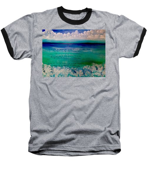 Caribbean Blue Words That Float On The Water  Baseball T-Shirt