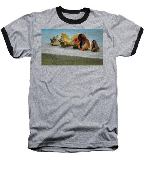 Caribbean Charisma Baseball T-Shirt by Karen Wiles