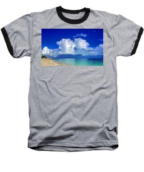 Caribbean Clouds Baseball T-Shirt