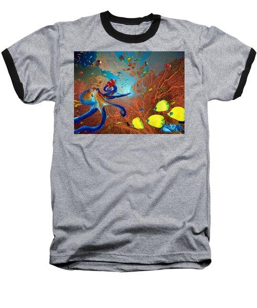 Caribbean Coral Reef Baseball T-Shirt