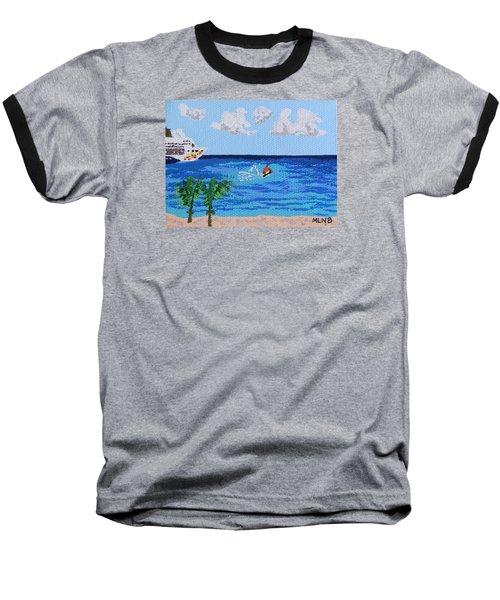 Caribbean Jet Ski Baseball T-Shirt