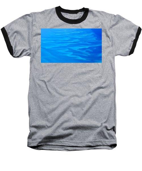 Caribbean Ocean Abstract Baseball T-Shirt by Jetson Nguyen