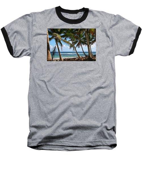 Caribbean Palms Baseball T-Shirt