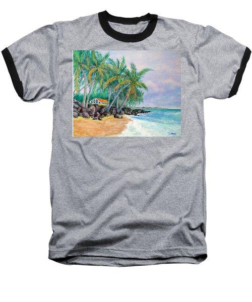 Caribbean Retreat Baseball T-Shirt by Susan DeLain