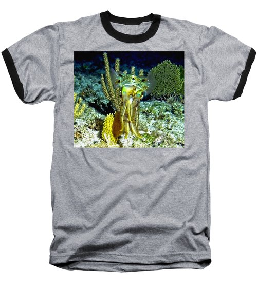 Caribbean Squid At Night - Alien Of The Deep Baseball T-Shirt
