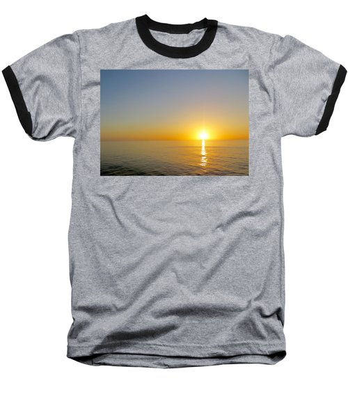 Caribbean Sunset Baseball T-Shirt by Teresa Wing