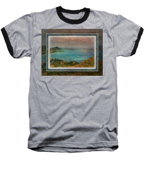 Baseball T-Shirt featuring the digital art Caribbean Symphony by Hanny Heim