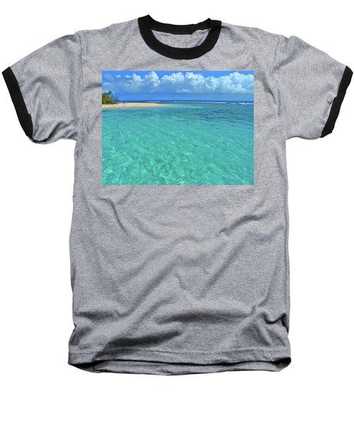 Caribbean Water Baseball T-Shirt by Scott Mahon