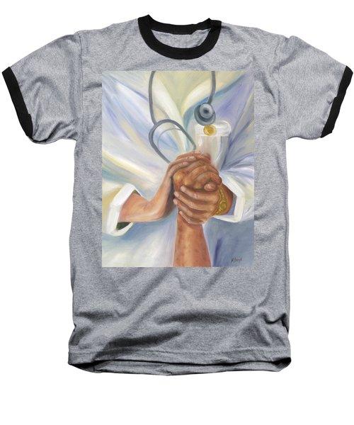 Caring A Tradition Of Nursing Baseball T-Shirt by Marlyn Boyd