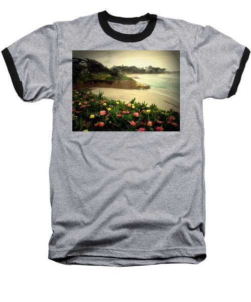 Carmel Beach And Iceplant Baseball T-Shirt