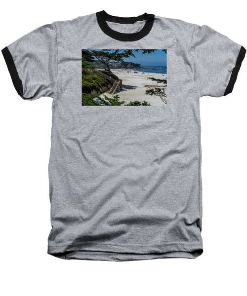 Carmel Beach Stairs Baseball T-Shirt