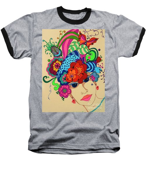 Baseball T-Shirt featuring the painting Carmen by Alison Caltrider