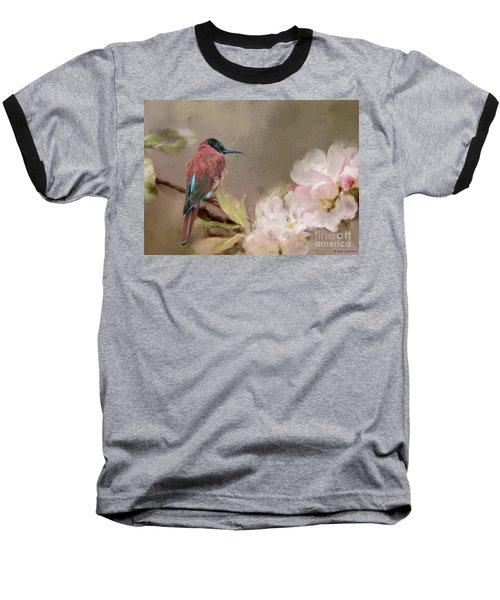 Carmine Bee-eater Baseball T-Shirt by Eva Lechner