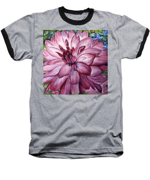 Carmine Dahlia Baseball T-Shirt