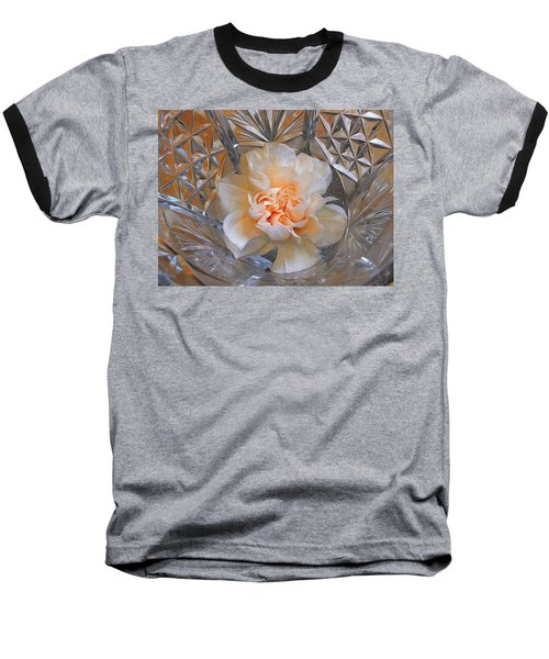 Carnation In Cut Glass 7 Baseball T-Shirt