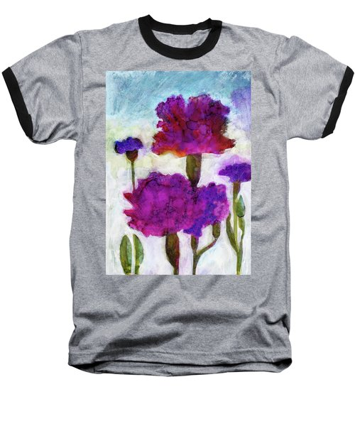Baseball T-Shirt featuring the painting Carnations by Julie Maas