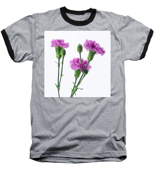 Carnations Three Lavender Baseball T-Shirt