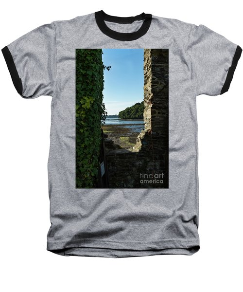 Baseball T-Shirt featuring the photograph Photographs Of Cornwall Carnon Mine Window by Brian Roscorla