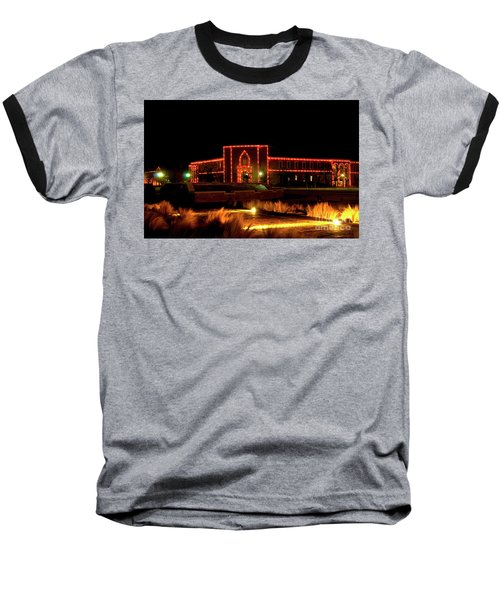 Baseball T-Shirt featuring the photograph Carol Of Lights At Science Building by Mae Wertz