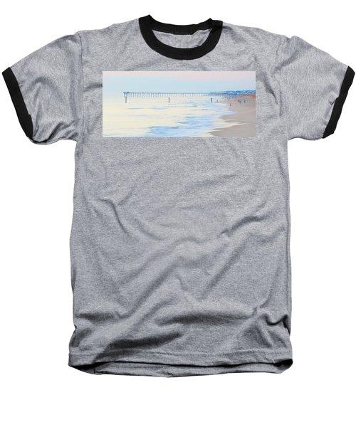 Carolina Beach Thanksgiving Day Baseball T-Shirt by Glenn Gemmell