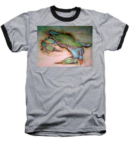 Carolina Blue Crab Baseball T-Shirt