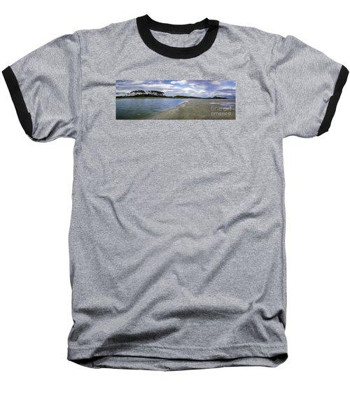 Carolina Inlet At Low Tide Baseball T-Shirt by David Smith