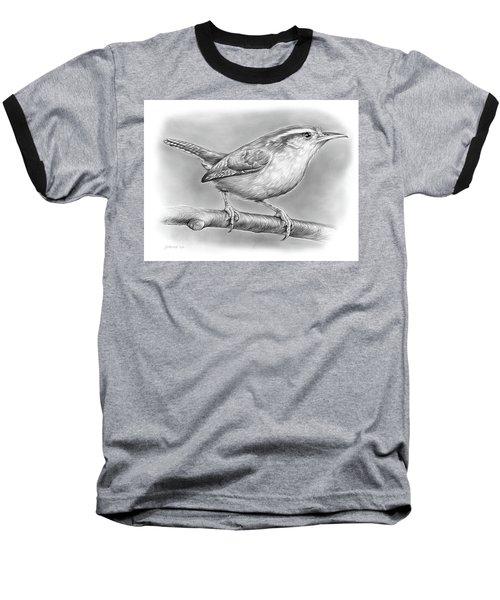 Carolina Wren Baseball T-Shirt by Greg Joens