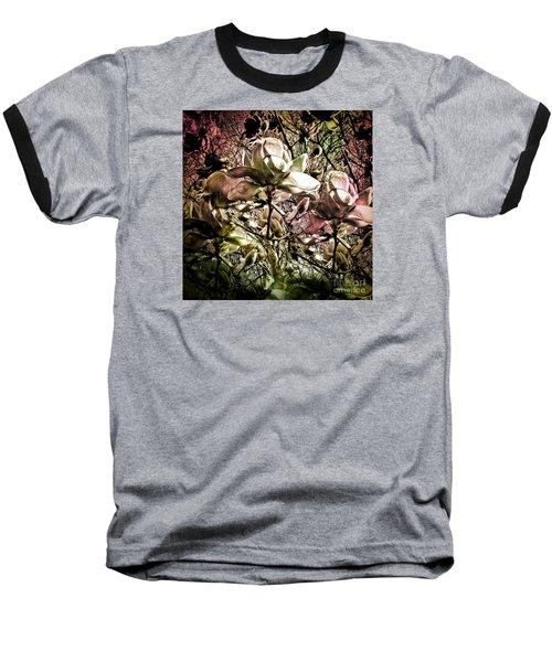 Carols Magnolia Baseball T-Shirt by Karen Lewis