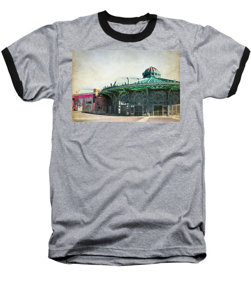 Carousel House At Asbury Park Baseball T-Shirt by Colleen Kammerer