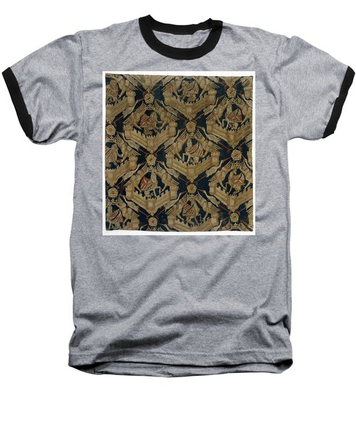 Textile Tapestry Carpet With The Arms Of Rogier De Beaufort Baseball T-Shirt by R Muirhead Art
