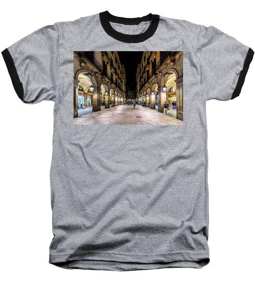 Carrer De Colom Baseball T-Shirt by Randy Scherkenbach
