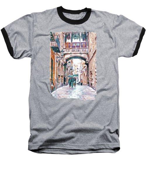 Carrer Del Bisbe - Barcelona Baseball T-Shirt