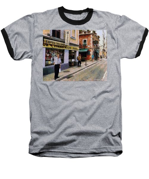Carrer Dosrius Baseball T-Shirt by Kai Saarto