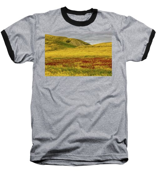 Baseball T-Shirt featuring the photograph Carrizo  Plain Super Bloom 2017 by Peter Tellone