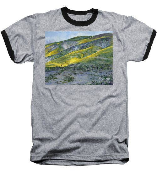 Carrizo Spring Mustard Baseball T-Shirt
