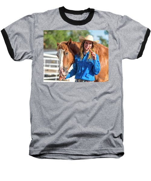 Carrots,cowgirls And Horses  Baseball T-Shirt