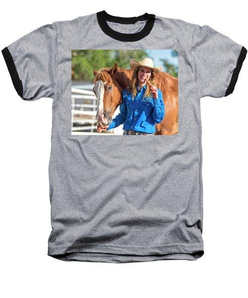 Carrots,cowgirls And Horses  Baseball T-Shirt