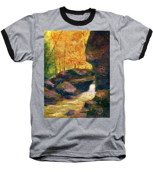 Baseball T-Shirt featuring the painting Carter Caves Kentucky by Gail Kirtz