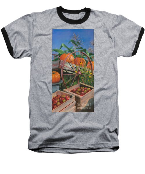 Cartloads Of Pumpkins Baseball T-Shirt by Jeanette French