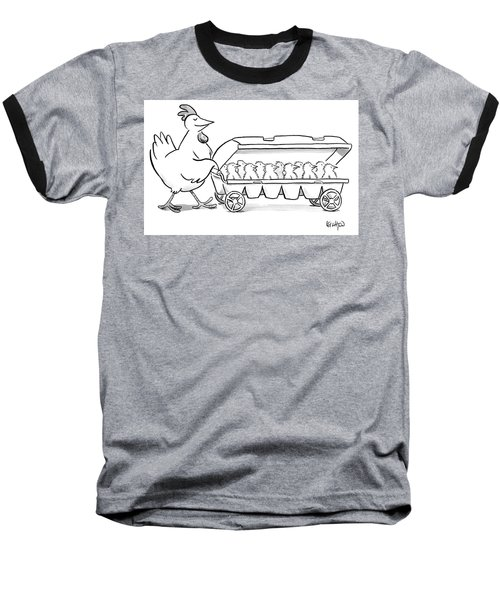 Carton Of Chicks Baseball T-Shirt