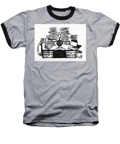 Cartoon I Dare You Baseball T-Shirt