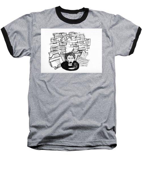 Cartoon Inbox Baseball T-Shirt